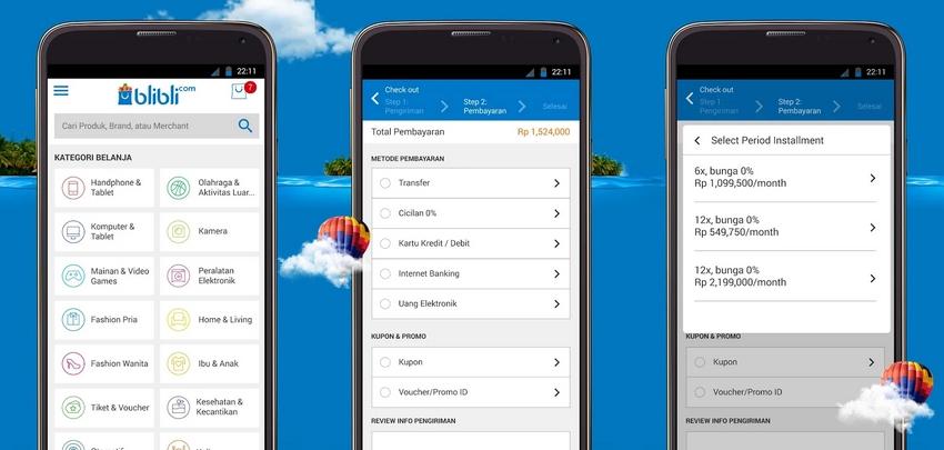 Cara belanja di blibli.com via applikasi HP 2